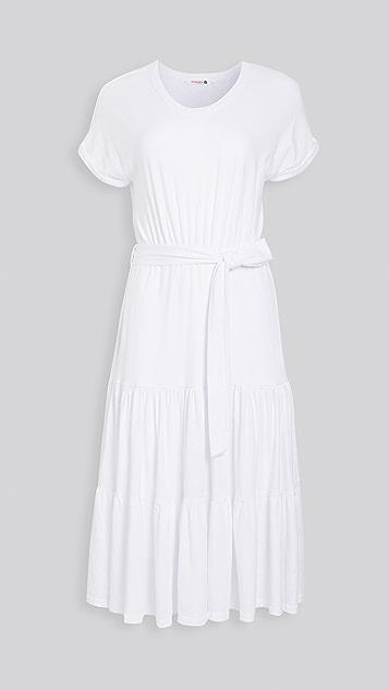 SUNDRY 系带腰部翻边连衣裙