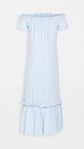 SUNDRY Off Shoulder Maxi Dress