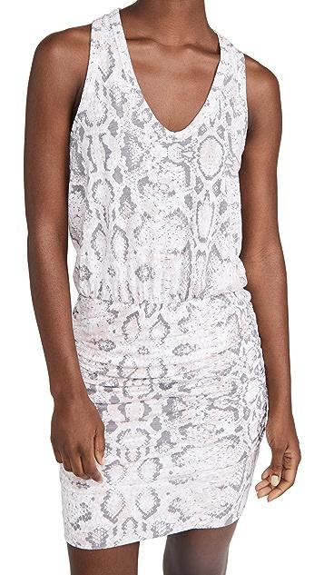 SUNDRY Python Print Sleeveless Dress