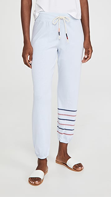 SUNDRY 2 Tone Stripe Sweats