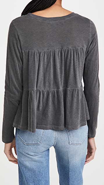 SUNDRY Tiered Long Sleeve Tee