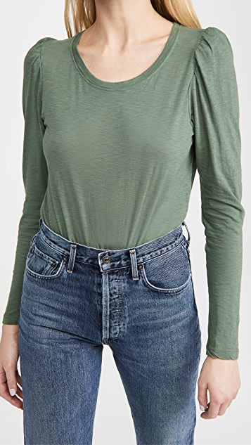 SUNDRY Puff Shoulder Long Sleeve Tee