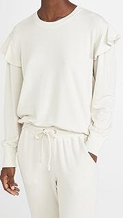 SUNDRY Puff Sleeve Sweatshirt