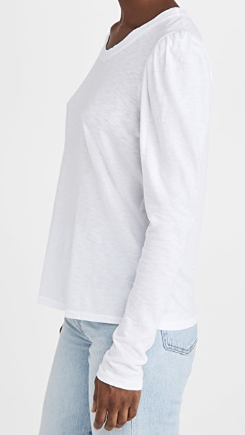 SUNDRY Puff Shoulder Long Sleeve Tee