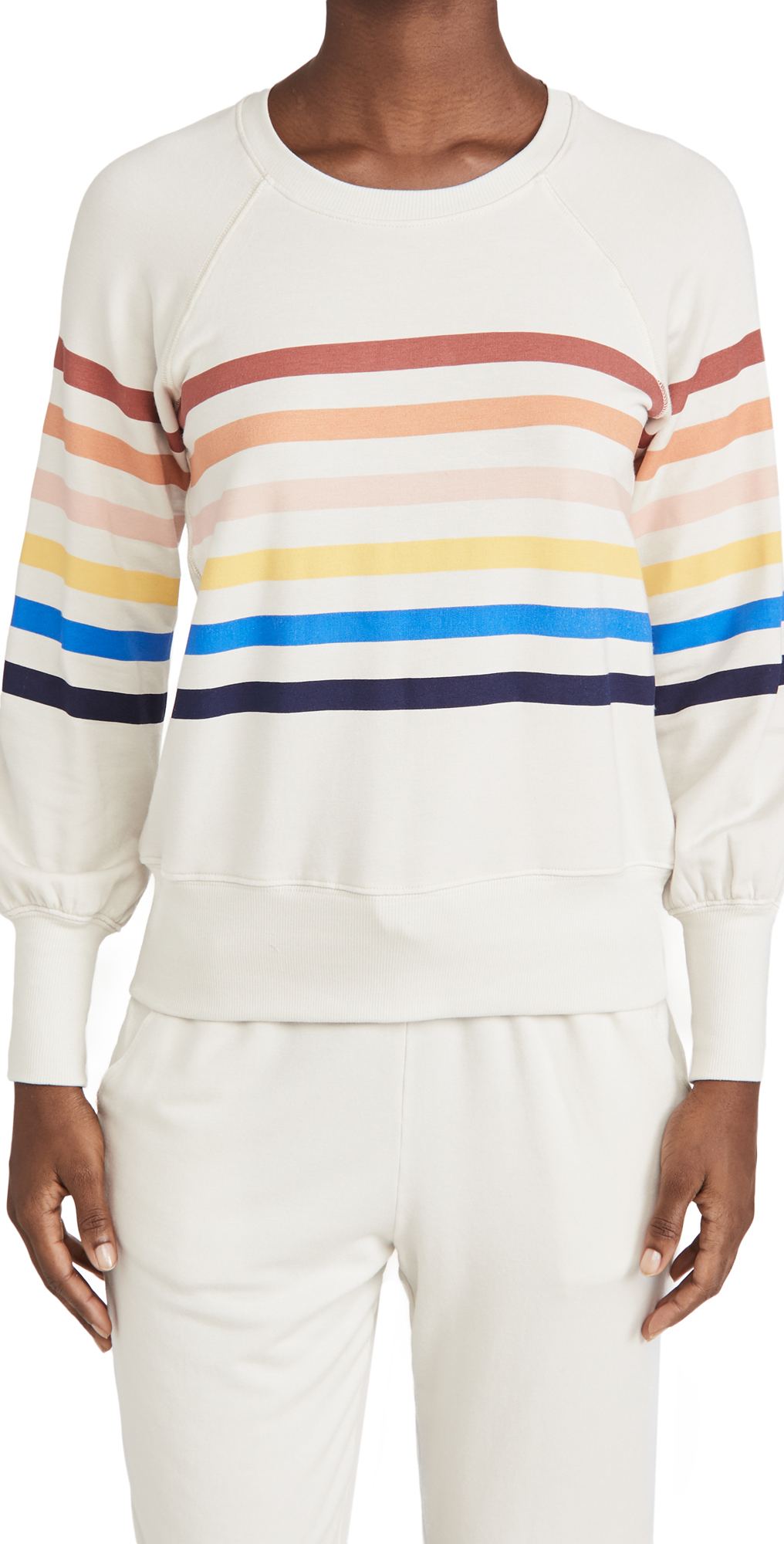 SUNDRY Striped Raglan Sleeve Sweatshirt