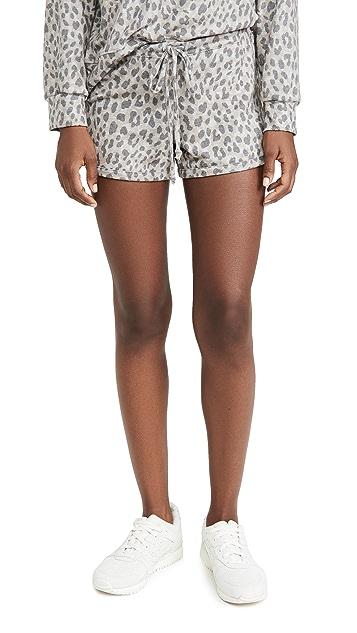 SUNDRY Leopard Dolphin Shorts