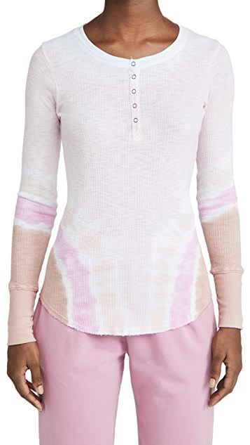 SUNDRY Fitted Henley Tee