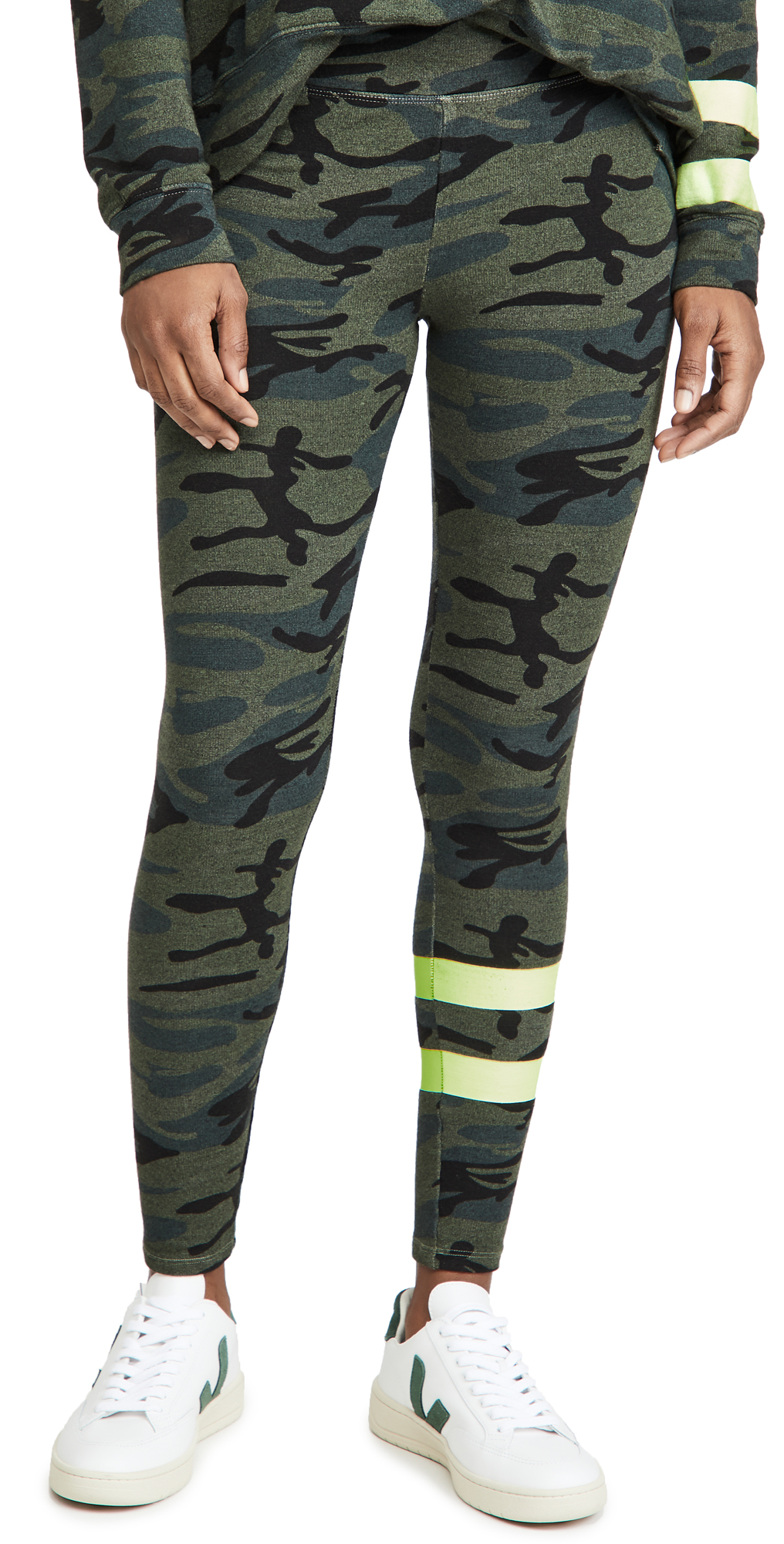 SUNDRY Stripe Camo Yoga Pants