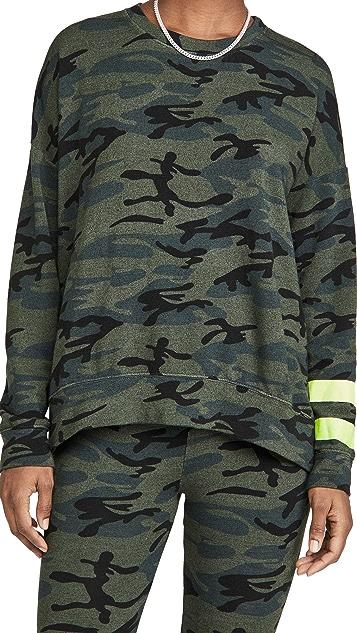 SUNDRY Arm Stripe Camo Sweatshirt