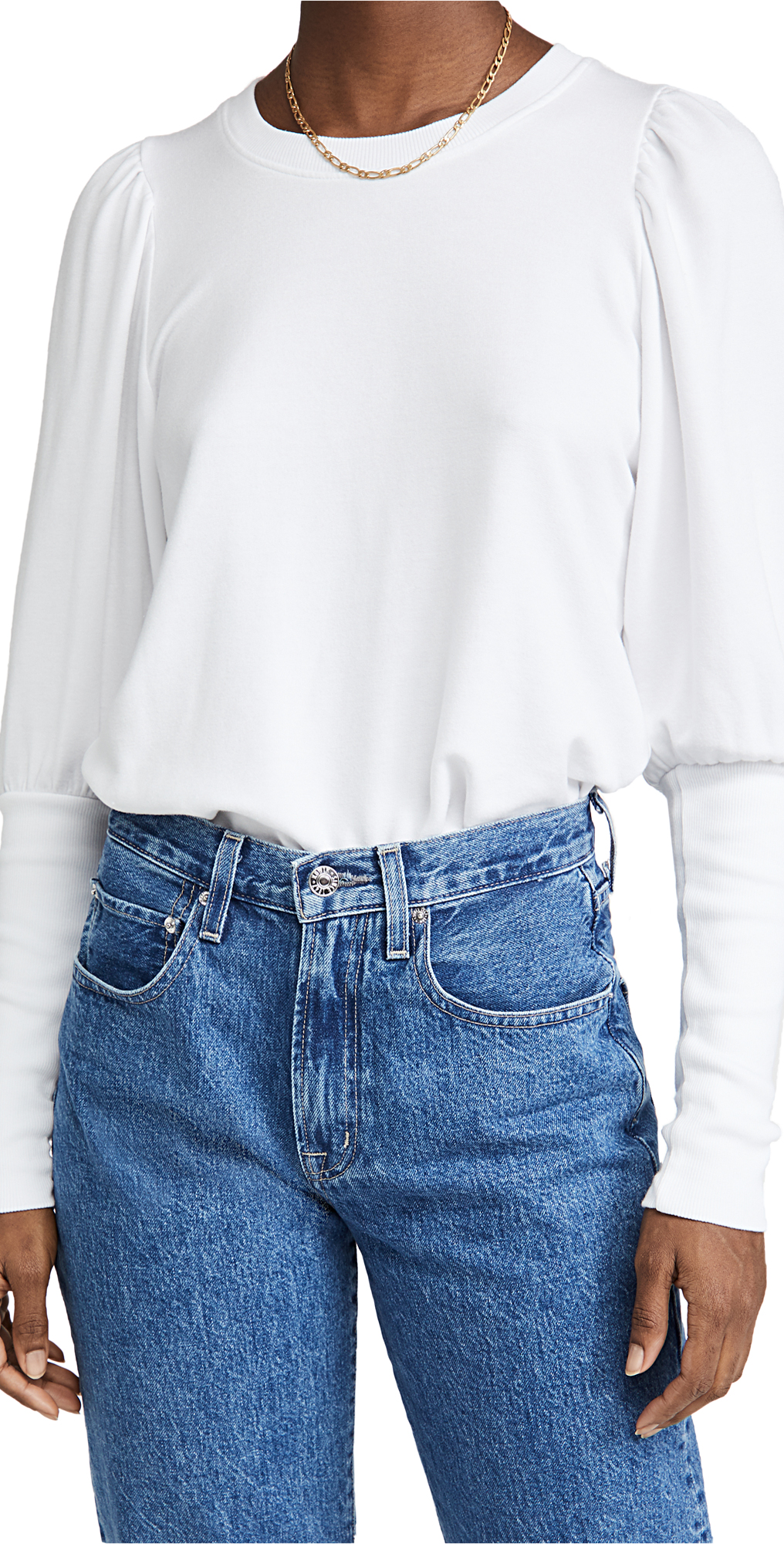 SUNDRY Puff Shoulder Sweatshirt
