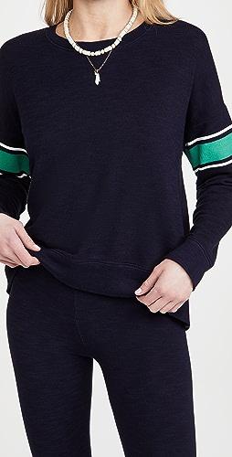 SUNDRY - 学院风条纹运动衫