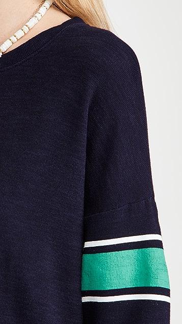 SUNDRY 学院风条纹运动衫