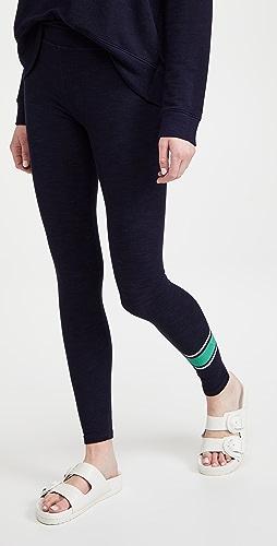 SUNDRY - 学院风条纹瑜伽裤