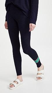 SUNDRY 学院风条纹瑜伽裤