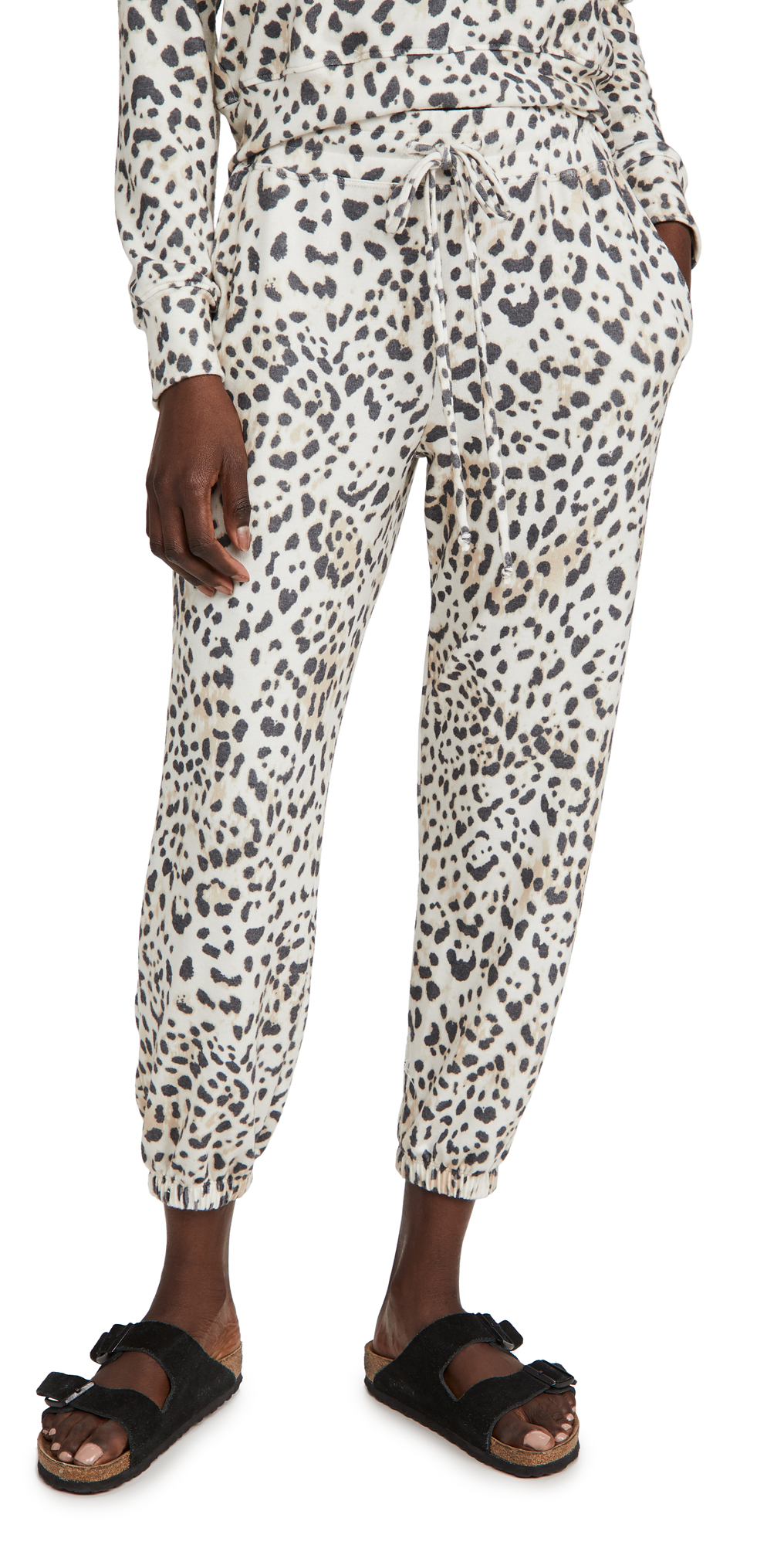 SUNDRY Leopard High Waist Sweatpants
