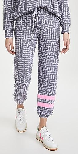 SUNDRY - 条纹千鸟格长裤