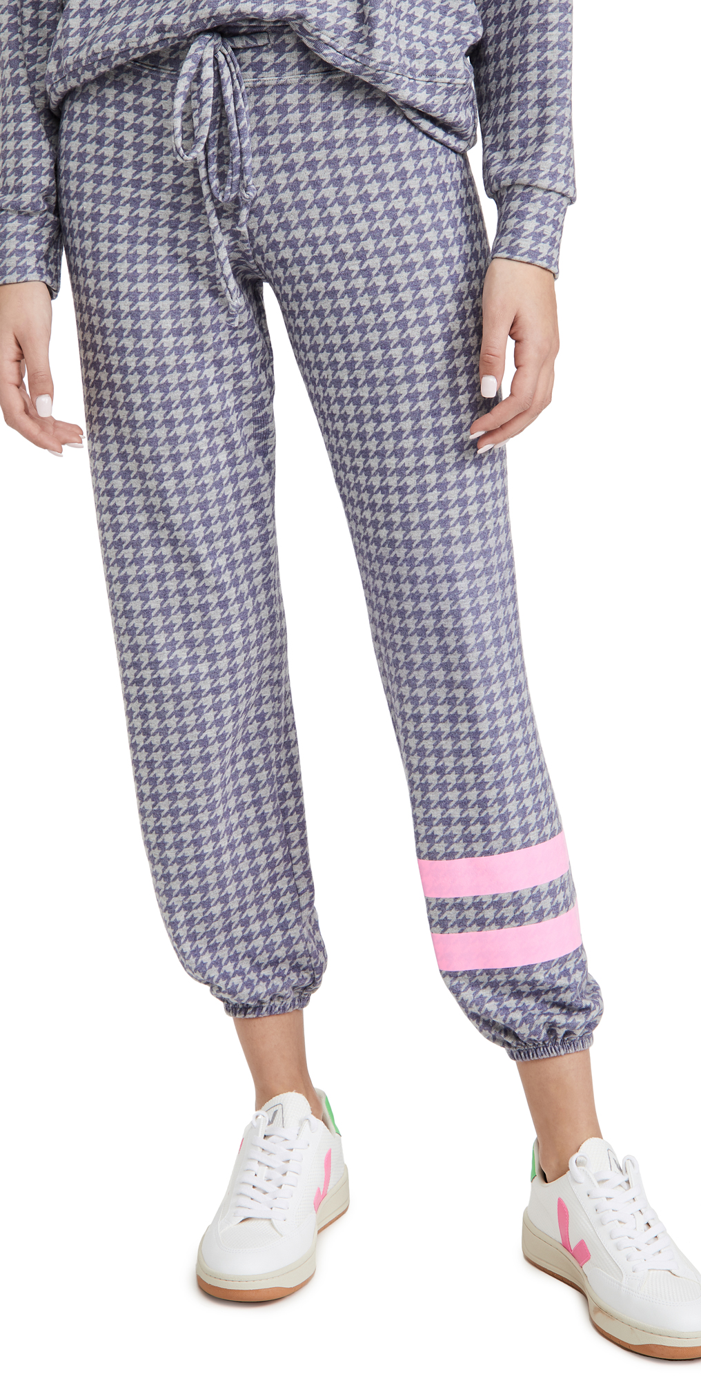 SUNDRY Stripe Houndstooth Pants