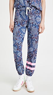 SUNDRY Stripe Paisley Sweatpants