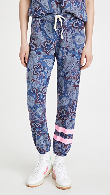 SUNDRY Stripe Paisley Sweatpants