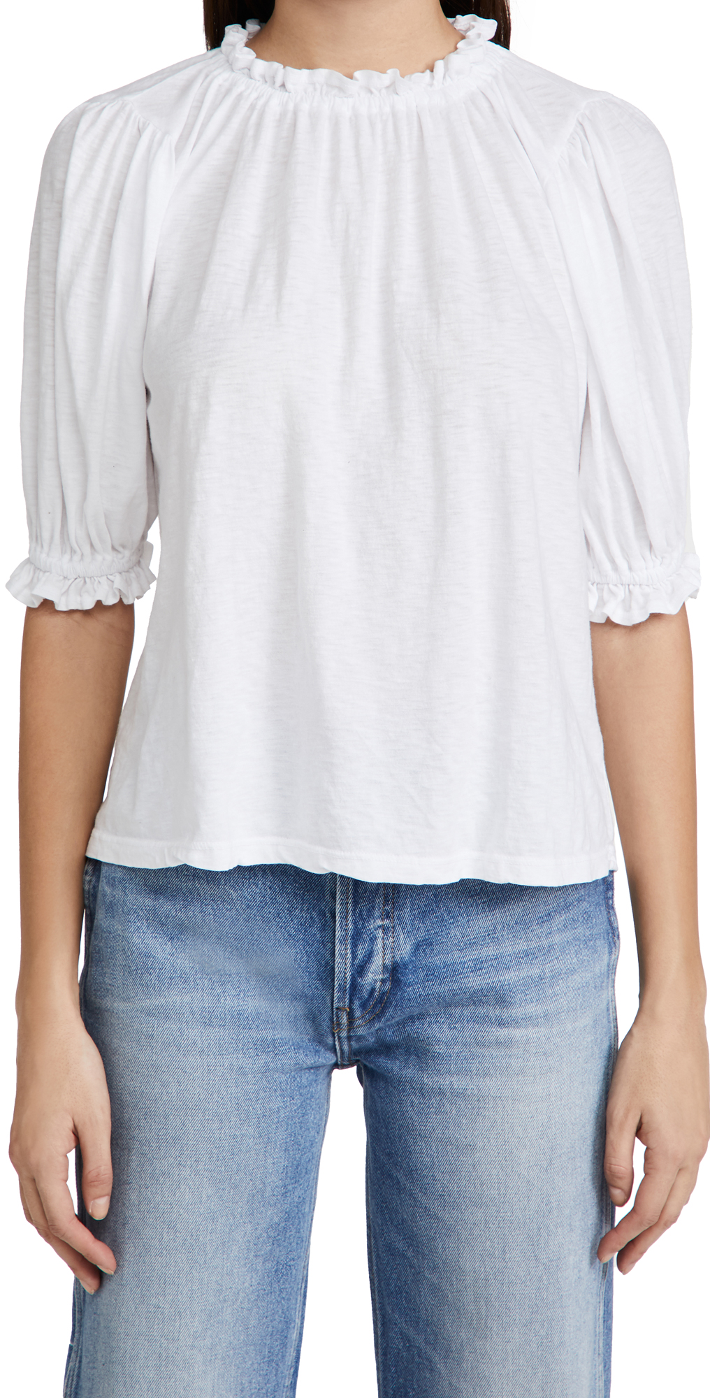 SUNDRY Bubble Sleeve Top