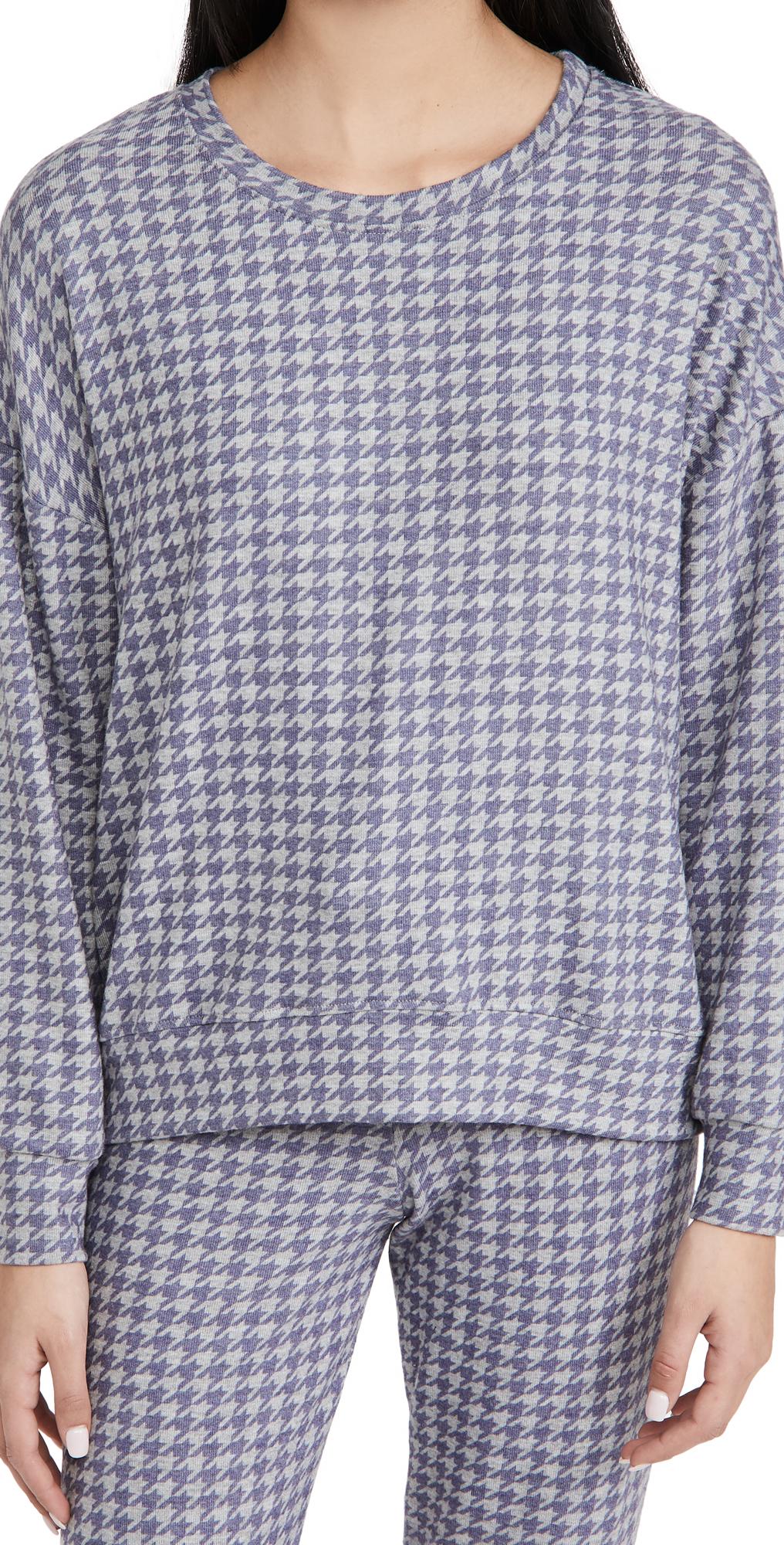 Sundry Sweatshirts HOUNDSTOOTH SWEATSHIRT