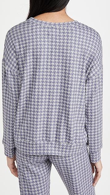 SUNDRY Houndstooth Sweatshirt