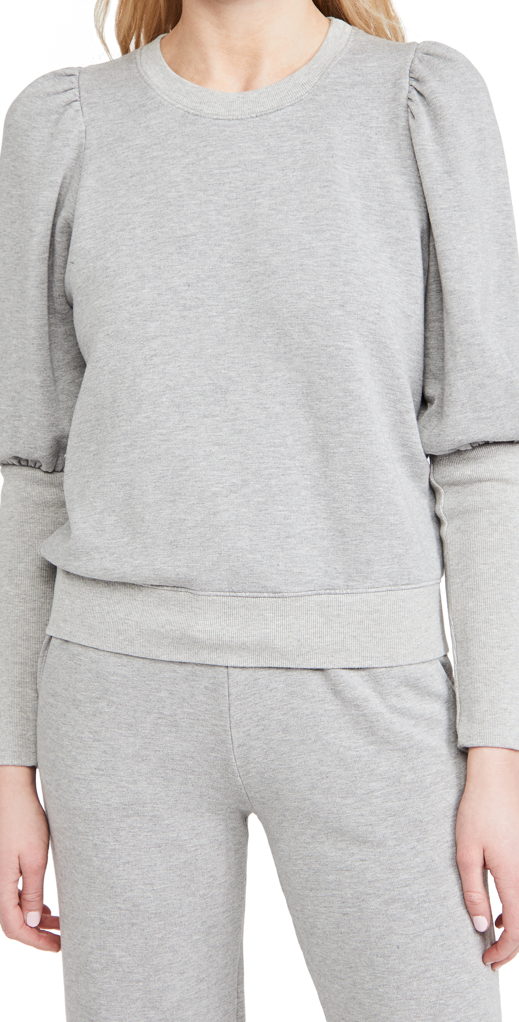 SUNDRY Puffed Shoulder Sweatshirt