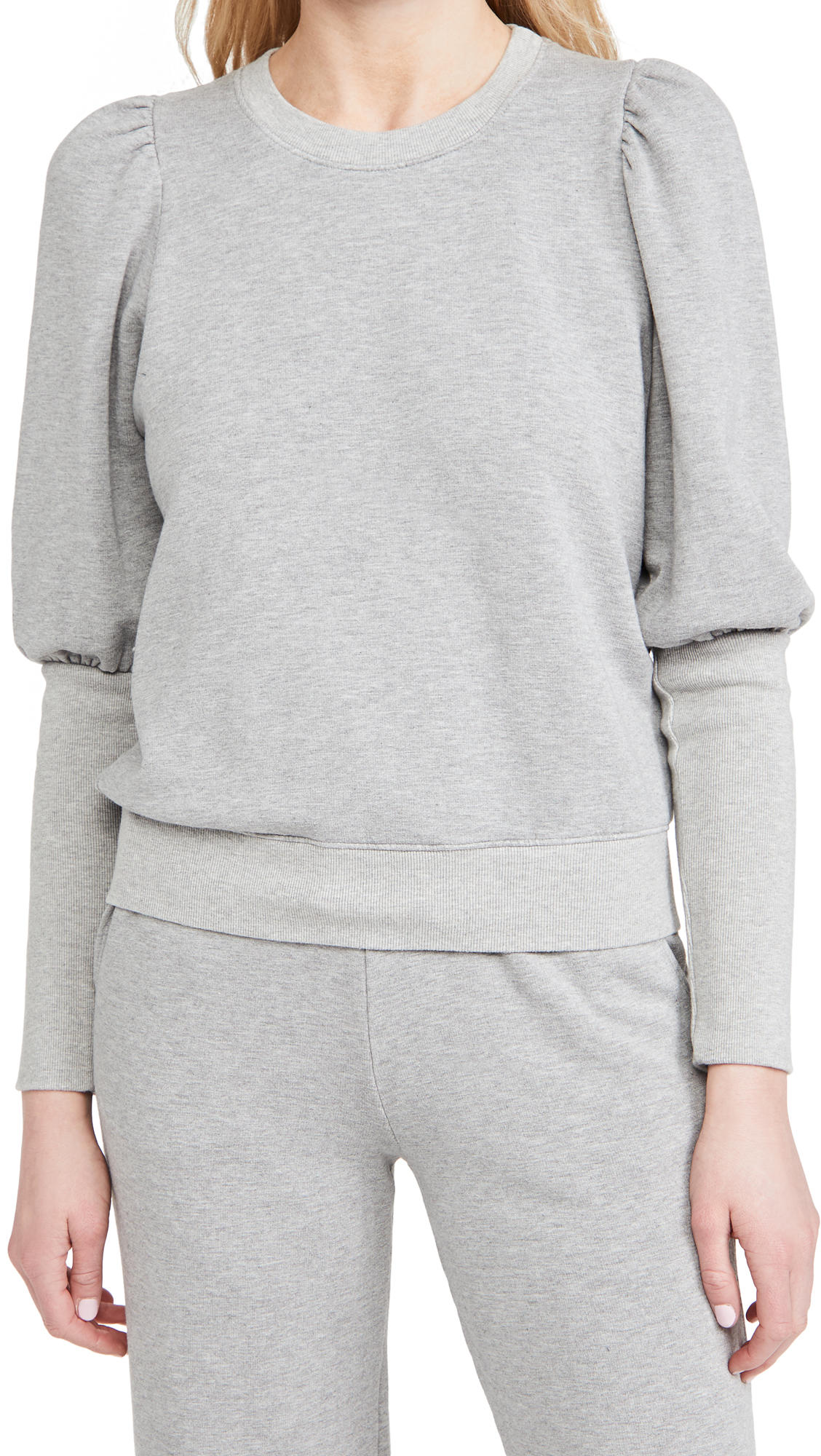 Sundry Sweatshirts PUFFED SHOULDER SWEATSHIRT