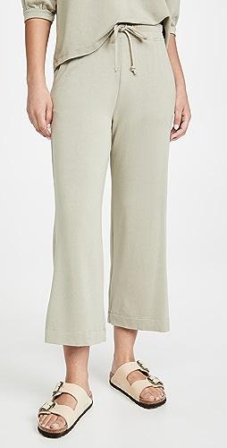 SUNDRY - Cropped Flare Sweatpants