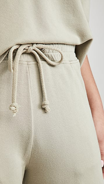 SUNDRY Cropped Flare Sweatpants