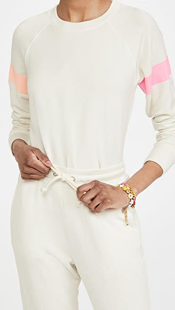SUNDRY 2 Tone Stripe Sweatshirt