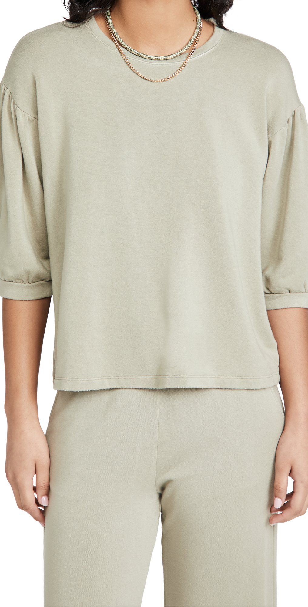 SUNDRY Balloon Sleeve Sweatshirt