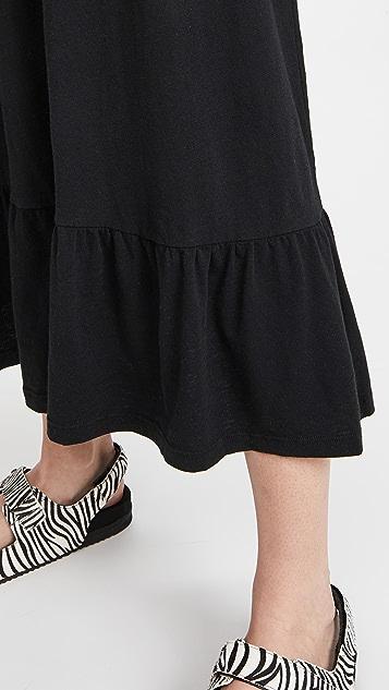 SUNDRY V Neck Strap Maxi Dress