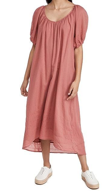 SUNDRY 泡泡袖长连衣裙