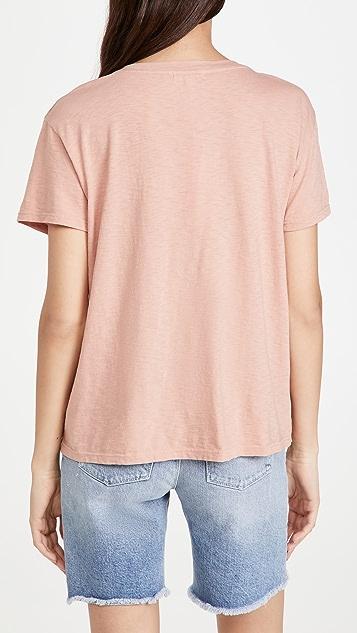 SUNDRY 彩色条纹复古 T 恤