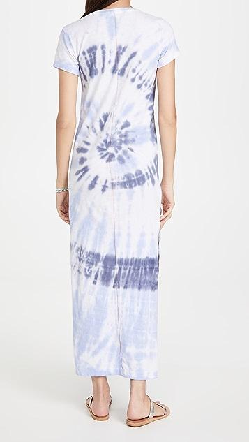 SUNDRY 开衩设计短袖长连衣裙