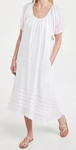 SUNDRY - 泡泡袖长连衣裙