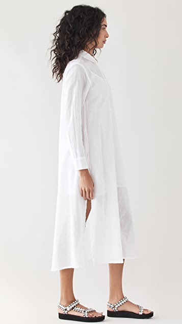 SUNDRY 巴里纱衬衣连衣裙