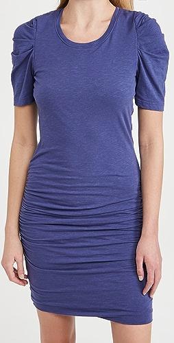 SUNDRY - 泡泡袖皱折连衣裙
