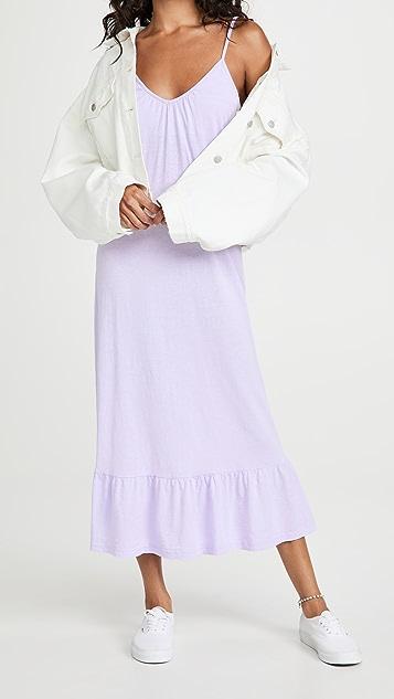SUNDRY V 领肩带长裙