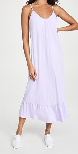 SUNDRY - V 领肩带长裙
