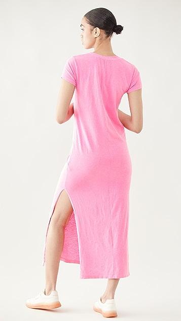 SUNDRY 短袖长连衣裙