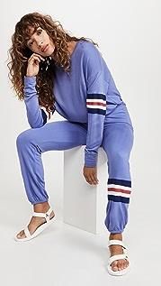 SUNDRY 3 Color Stripe Sweatpants