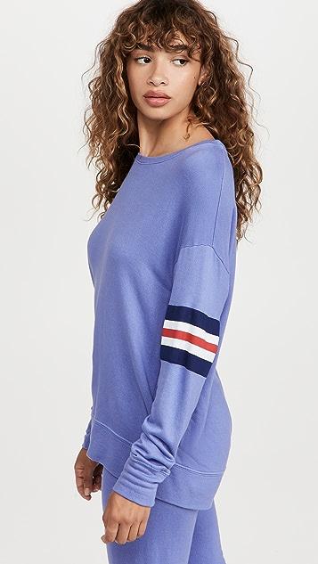 SUNDRY 3 Color Stripe Sweatshirt