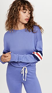 SUNDRY 三色条纹运动衫