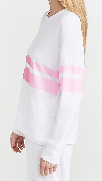 SUNDRY Ombre Stripe Sweatshirt