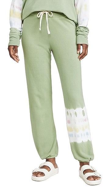 SUNDRY Tie Dye Stripe Sweatpants