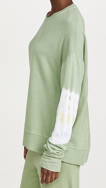 SUNDRY Tie Dye Stripes Sweatshirt