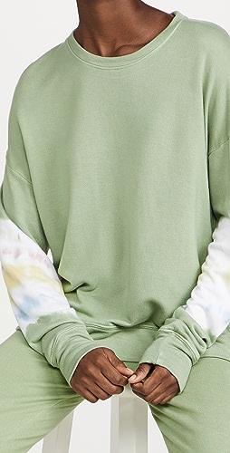 SUNDRY - 扎染条纹运动衫