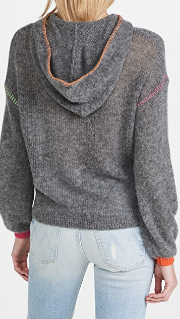 SUNDRY Pop Embroidery Hoodie